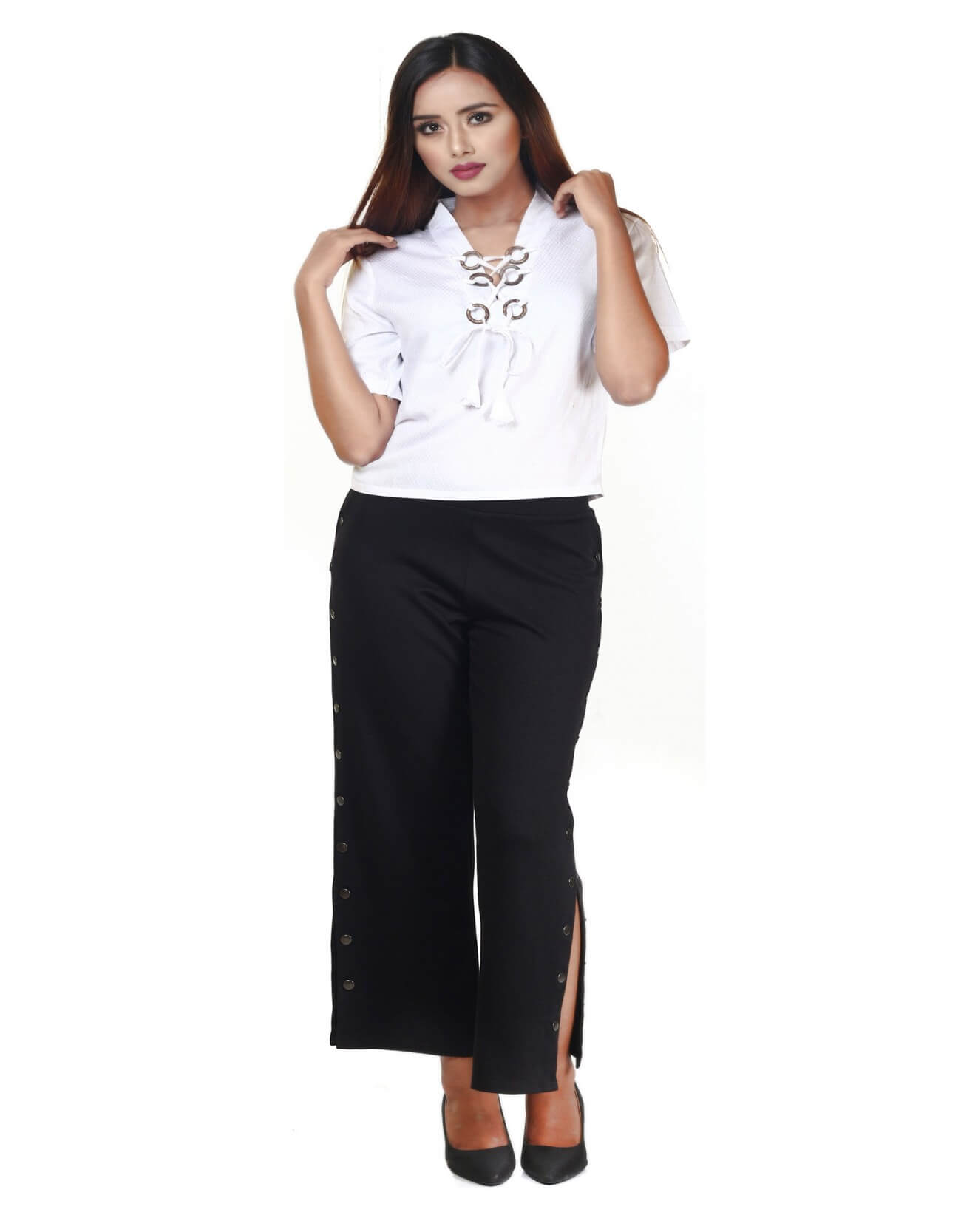 Ring Lace Casual Top