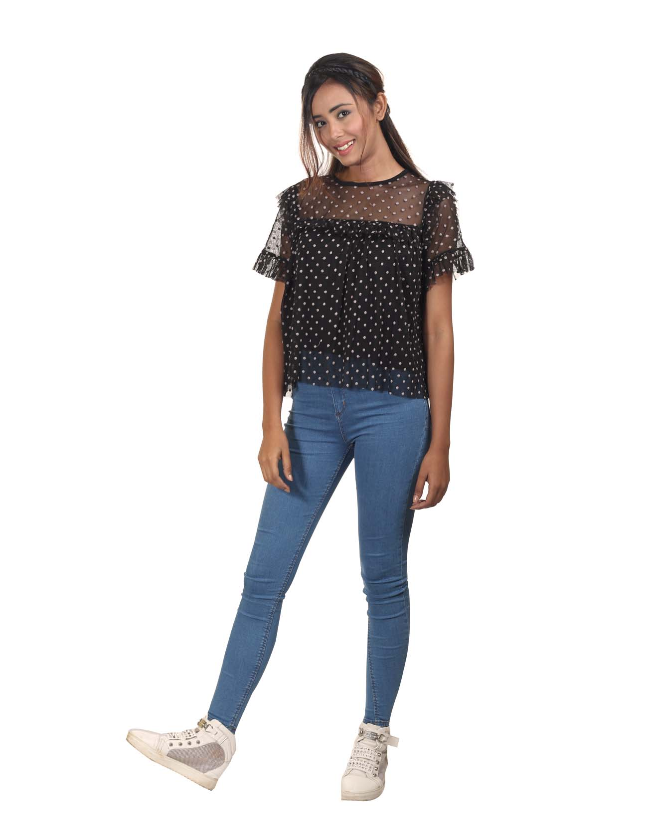 Lace Polka Top
