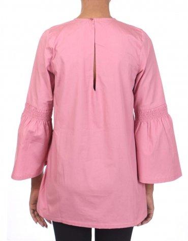 Honeycombed Sleeved Viscose Dress