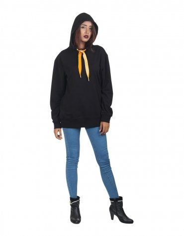 Oversized Sweatshirt with Velvet Trims