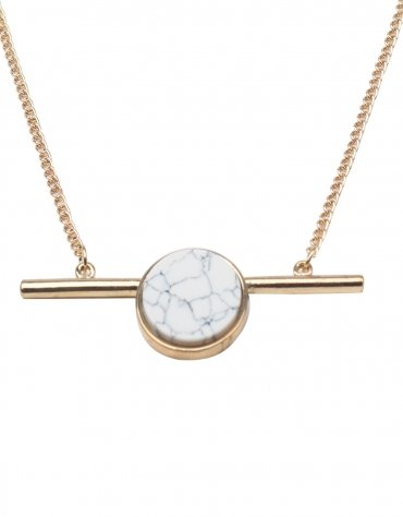 Faux Onyx Locket Necklace