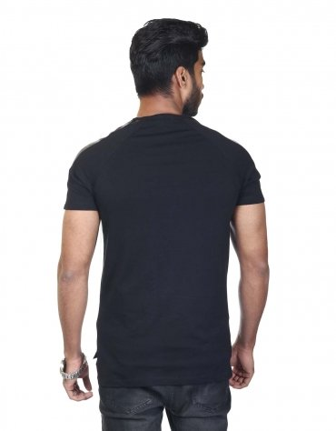 Pleather Sleeved T-Shirt