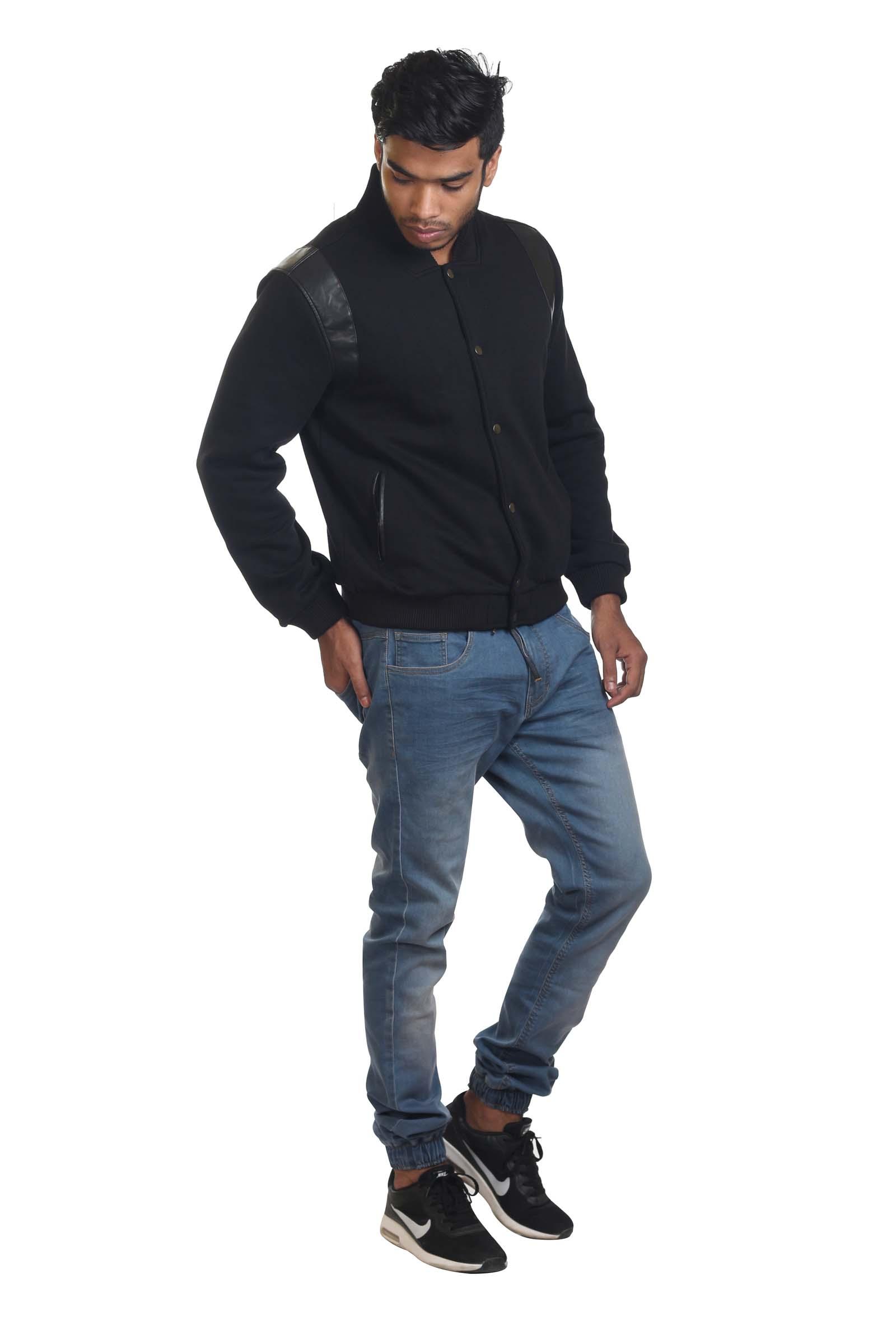 Cotton-Blend Bomber Jacket