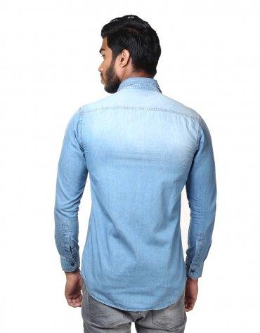 Wash Effect Denim Shirt