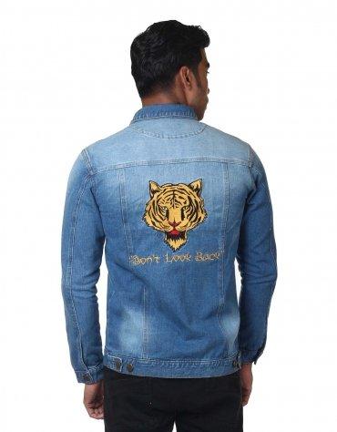Tiger Patched Denim Jacket