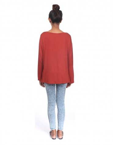 Viscose Top With Statement Sleeves