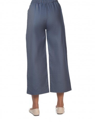 Chambray Tie-Front Culottes