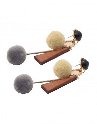 Fur Ball Earrings