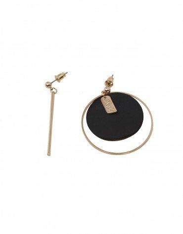 Circle And Bar Hoop Earrings