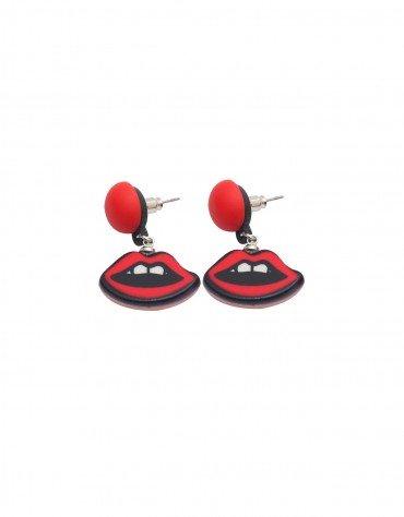 Red Lip Earrings