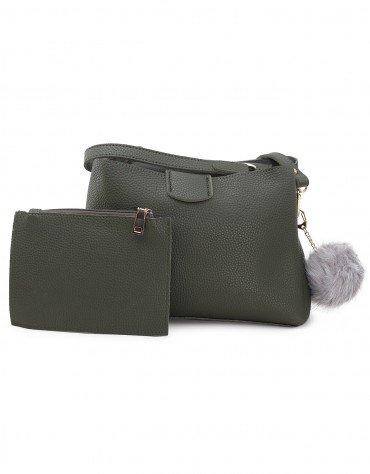 Pom Pom Charm Handbag