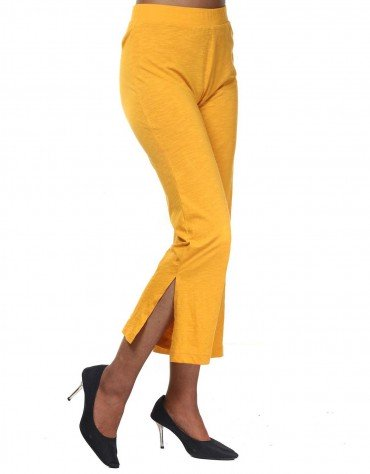 Side Slit Slinky Trousers