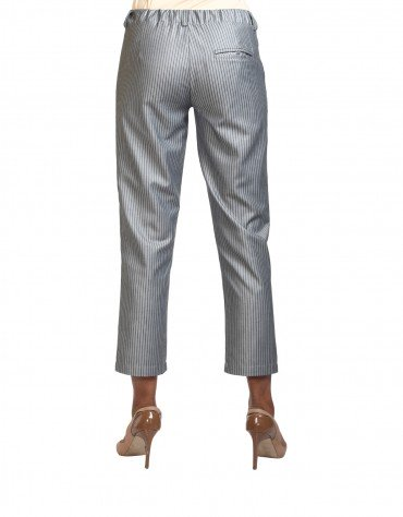 Striped-Trim Pants