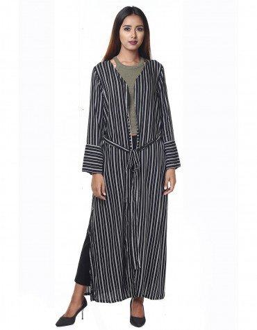 Striped Longline Jacket