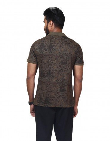 Floral Digital Printed Polo