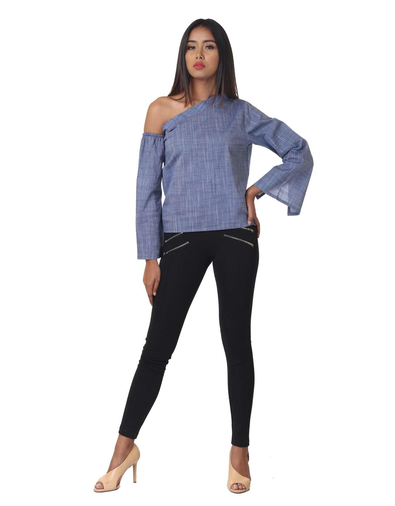One-shoulder Shirt