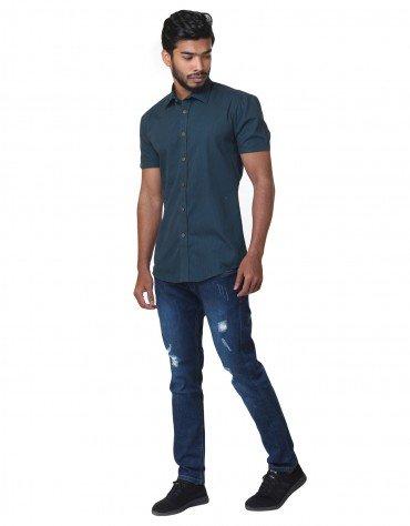 Striped Short-Sleeved Shirt