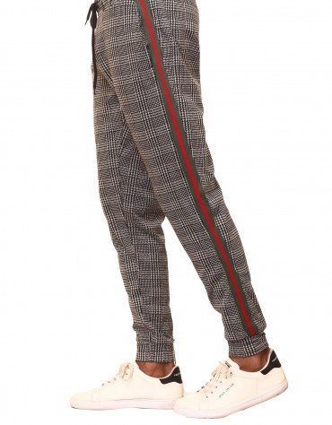 Striped Plaid Joggers