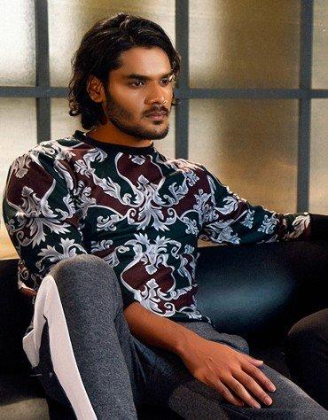 Baroque Print Sweatshirt