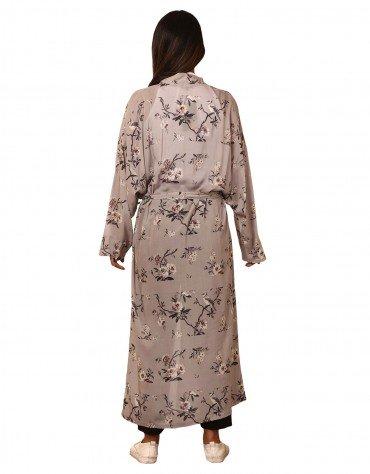 Long Printed Kimono