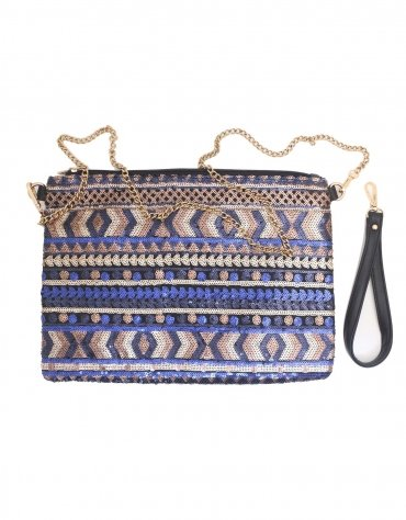 Sequinned Over Sized Clutch