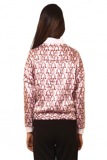 Bowie Print Bomber