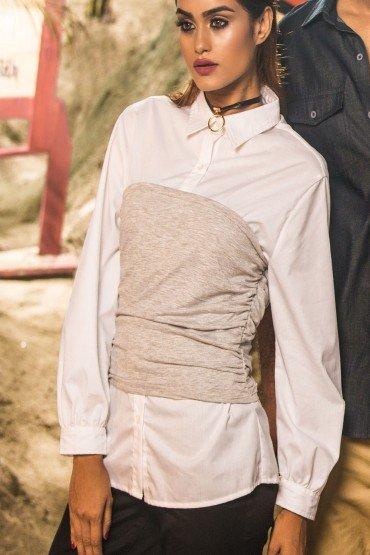 Knit Corset Shirt