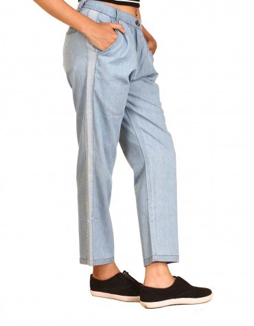 Baggy Chambray Pants