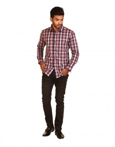 Contrast Checkered Shirt