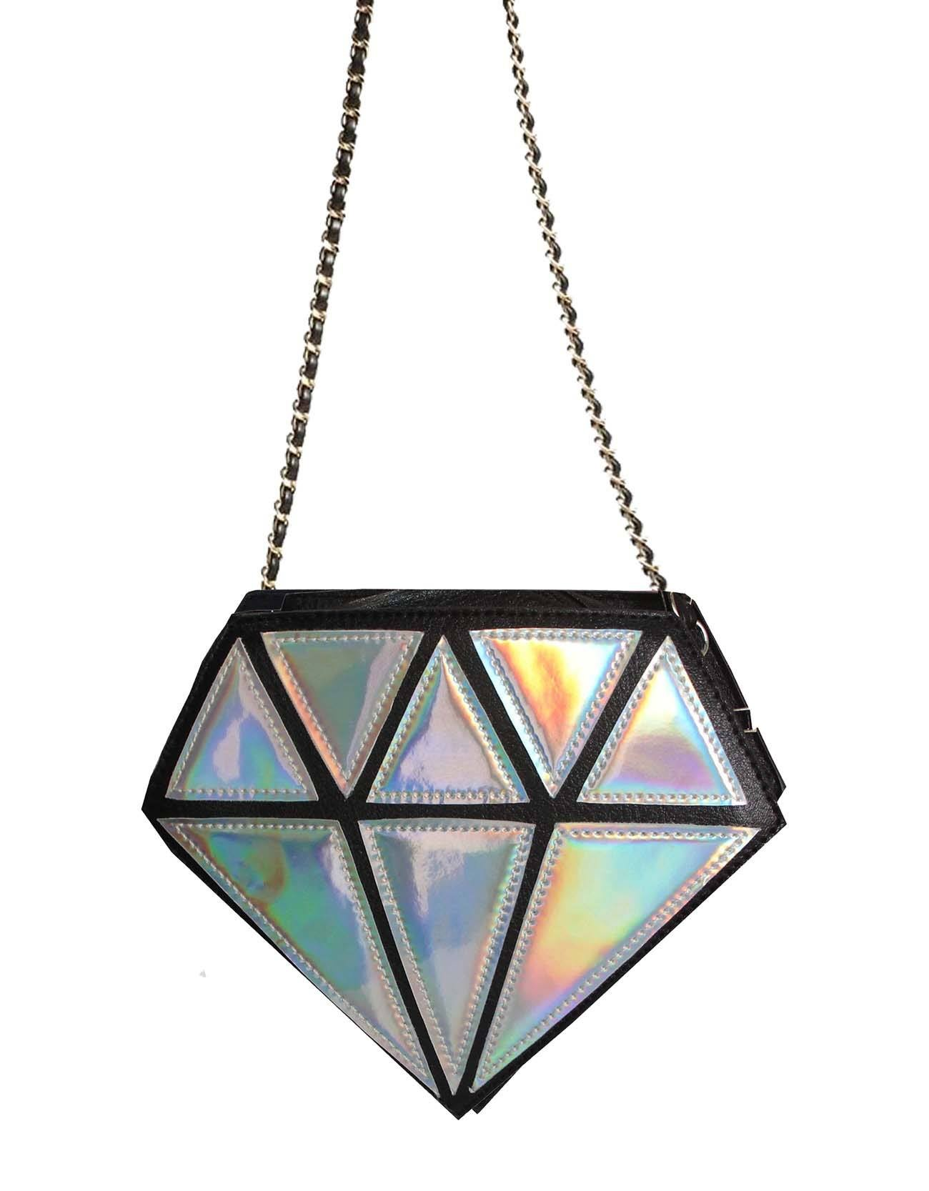 Diamond Crossbody Statement Bag