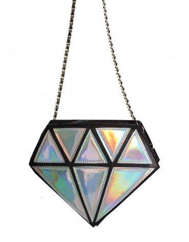Diamond Crossbody Statement Bag