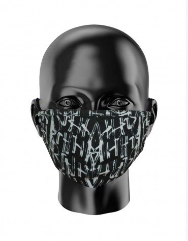 Abstract Print Face Covering