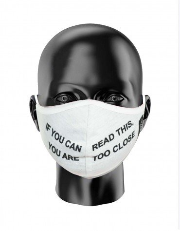 Slogan Print Face Covering