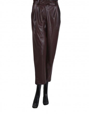 Faux Leather Paper Bag Culottes