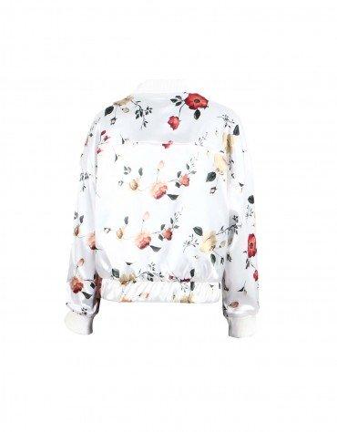 Floral Print Bomber Jacket