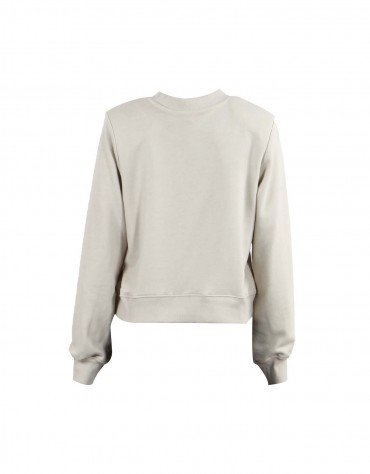 Shoulder Padded Sweatshirt